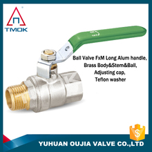 europe brass ball valve and equal shape brass ball valve as sample in good market