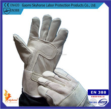 Cow leather Grade A/B gloves with full lining, welding working gloves