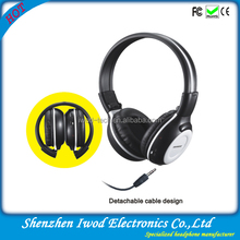 2014 noise cancelling cool leather cover stereo promotional foldable headphones