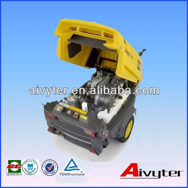 Motor Diesel Atlas Copco portátil parafuso rotativo Compressor de ar para venda