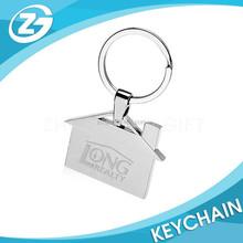Bulk Custom Personalized Engraved House Shaped Metal Key Chains