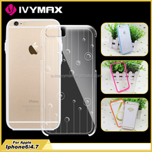 Hard PC clear back cover with TPU bumper mobile phone case for iphone 6