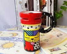 2 years warranty High quality cheap cat shaped ceramic mug