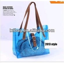 2014 Hot sale cheap wholesale clear pvc ladies handbag