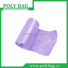 plastic HDPE embossing waste packing bag China manufacturing