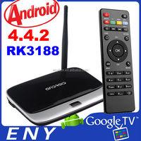 CS918 best cs918 rk3188 quad core With external wifi antenna 2GB RAM Android 4.4.2 quad core rk3188 cs918 smart tv box