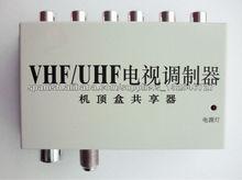 Convierta Señal de AV a señal de RF (con Divisor y Extensor de Control Remoto) para 2 Televisores RF101
