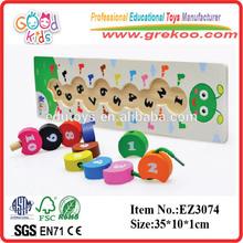 Nuevo 2014 cuentas de madera de la oruga, caterpillar populares juguetes al por mayor, caliente venta oruga juguetes