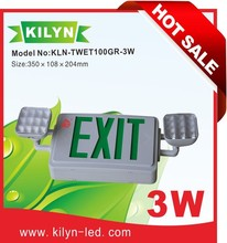 Factory direct sale CUL listed Ni-Cd battery Emergency lamp exit sign combo