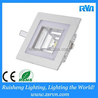 6W lowest price COB square two color four steps downlight/grow light