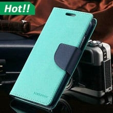 2 colors match design goospery leather wallet phone case for Samsung galaxy S5 S6