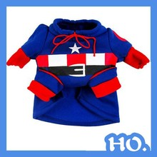 2015 hot selling Captain America dog coat checp pet dog clothes wholesale