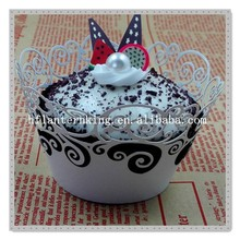Laser cutting cupcake wrapper, cupcakes, baking cup