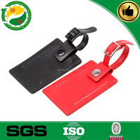 Top-notch Luxurious faux leather custom luggage tags with lovely strap/ baggage tag/ bag name tag with insert
