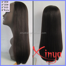 "High Quality 180% density 26"" #2 color full thin skin cap human hair lace wigs"
