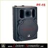 PF-15 High quality passive plastic speaker cabinet