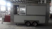 China mobile towing food van , 4-wheel tractor food trailer
