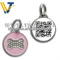 Circular QR code pet tag printer with crystal