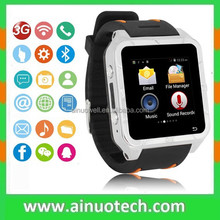 """Wifi Smart Watch and Phone MTK6572 Dual Core 1.2GHz 1.55"""" touch screen 3G GPS"""