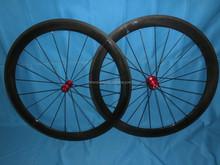 Roues pleine de carbone, 700C vélo roues de carbone roues de vélo en Fiber de carbone 50 mm pneu