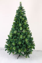 Pine Needle Mixed PVC Green Giant Wrapped Artificial Christmas Tree Metal Frame