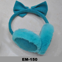 Fur Bow Bowknot Tie Winter Warm Headband Fur Earmuffs Ear Muffs Earlap Ear Muffle Ear Cover