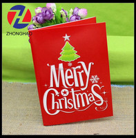 2015 new arrive printed craft wholesale Christmas design unique cheap bueaty gift card