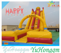 2014 China Factory New Design Yellow Duck Inflatable Slide/ Inflatable Obstacle Course/ Inflatable Water Pool