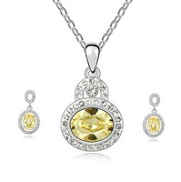 cheap necklace and earring sets with swarovski element crystal