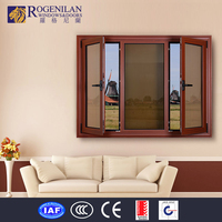 Rogenilan aluminum manual open side window sunshade tilt up aluminum window