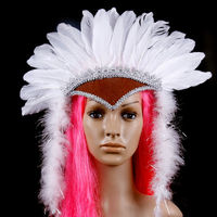 indian feather headdress/ feather headpiece carnival