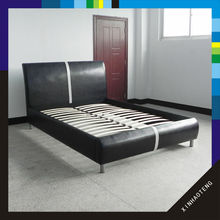 modern home furniture bedroom set pu synthetic leather bed