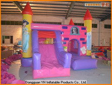 customed 18OZ PVC inflatable combo bouncer castle with slide for kids