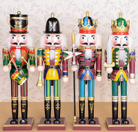 Christmas decoration arts and craft decorative wooden nutcracker nutcrackers