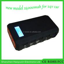 Multi-Function Mini Portable Car Jump Starter 24000mah Start 24V Car Engine Emergency Battery Power Bank Fast Charge