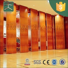 Decorative sliding sound proof partition wall