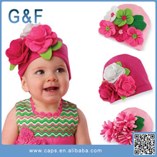 Top Quality Baby Cotton Hat With Flowers