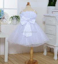Spaghetti Strap flower girl dress for 2 3 4 5 6 7 8 years old