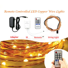 High Quality Mini LED Copper Wire Firefly Lights with RF Remote Control