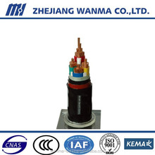 pvc 4 core cable insulated