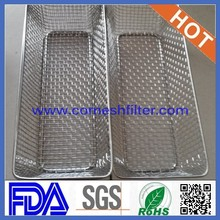 Small fine stainless steel mesh basket