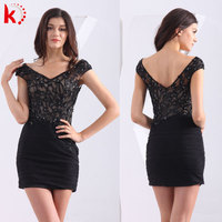Cap sleeve short sexy girl real pictures cocktail dress big size fat women party wear dress