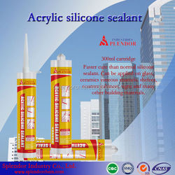 black acetic 300ml silicone sealant/acetic silicone adhesive sealant