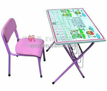 Child Desk Foldable, Wood Kids Table Chairs, Kids Folding Table