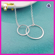 Interlinking silver necklace, sterling silver eternity circle necklace for best friend gift sterling silver gold jewelry