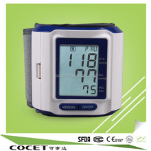 COCET HOT SALE !wrist blood pressure test kit,equipment with CE,RoHs,ISO