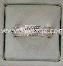 [super Deal] Wedding Bands-Diamond Engraved