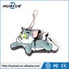 Tom And Jerry USB 2.0 Cat Shaped Silicone USB Flash Disk, Wristband USB Flash Memory with Chain 1GB 2GB 16GB 128GB bulk