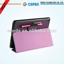 Protective Slim Fold Leather Back Stand Cover Case with Stylus Holder For Ipad Mini
