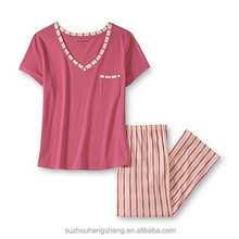 Women's Pajama Top & Capri Pants - Striped